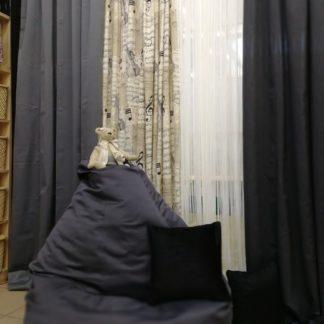 Нитяные шторы - белый жемчуг